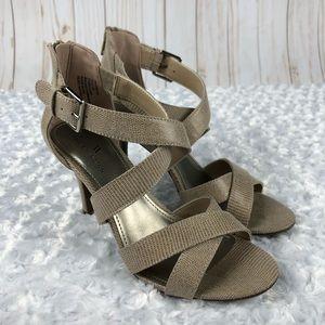 Worthington Cari Taupe Heeled Sandals New